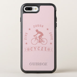 Lady's Live Laugh Love Cycle text (pink) OtterBox Symmetry iPhone 8 Plus/7 Plus Case