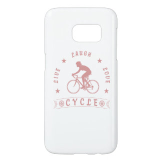 Lady's Live Laugh Love Cycle text (pink) Samsung Galaxy S7 Case