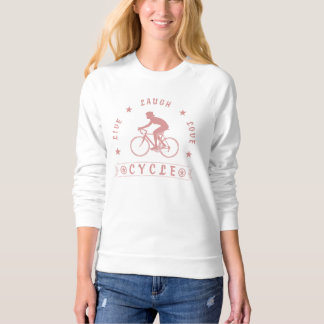 Lady's Live Laugh Love Cycle text (pink) Sweatshirt