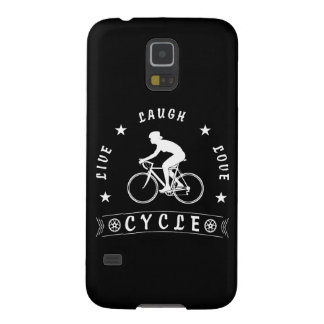 Lady's Live Laugh Love Cycle text (wht) Galaxy S5 Cover