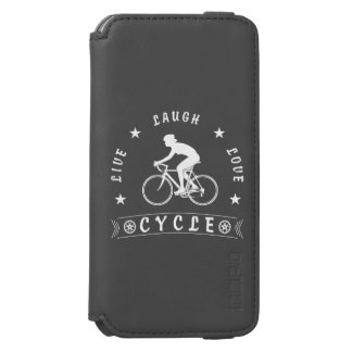 Lady's Live Laugh Love Cycle text (wht) Incipio Watson™ iPhone 6 Wallet Case
