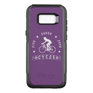 Lady's Live Laugh Love Cycle text (wht) OtterBox Commuter Samsung Galaxy S8+ Case