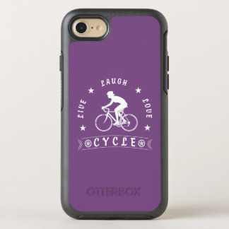 Lady's Live Laugh Love Cycle text (wht) OtterBox Symmetry iPhone 8/7 Case