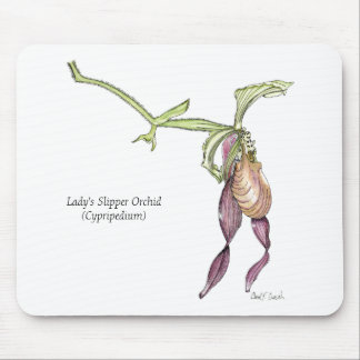 Lady's Slipper Orchid Mousepad