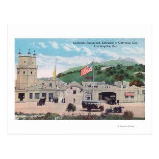 Laemmle Boulevard View of Universal City Postcard