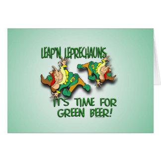 Laep'n Leprechauns... Greeting Card