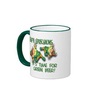 Laep'n Leprechauns... Ringer Coffee Mug