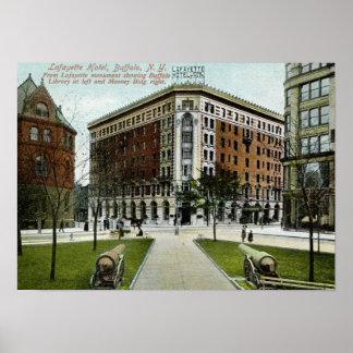 Lafayette Hotel, Buffalo, NY 1909 Vintage Poster