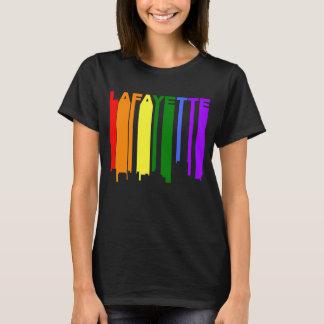 Lafayette Louisiana Gay Pride Rainbow Skyline T-Shirt