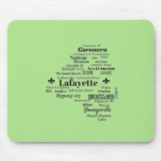Lafayette Parish Louisiana Places Mouse Pad