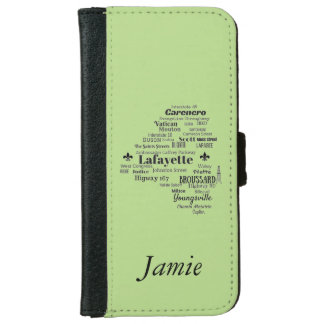 Lafayette Parish Louisiana Places Wallet Case