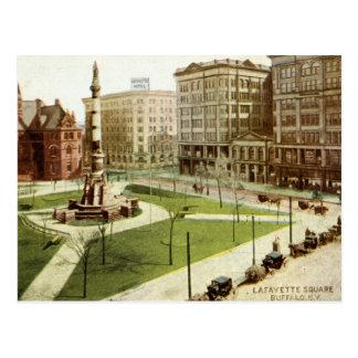 Lafayette Square Buffalo NY 1915 vintage Postcard