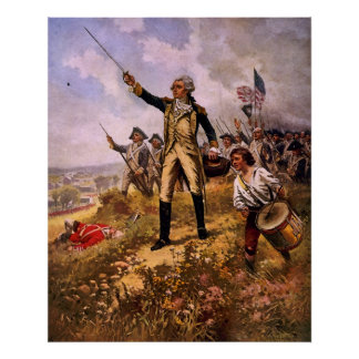 Lafayette's Baptism of Fire by E. Percy Moran Poster
