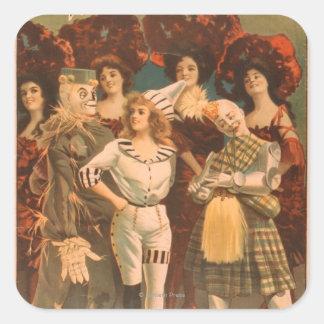 """""""L'affiche #1 de théâtre musical de magicien d'Oz"""" Sticker Carré"""