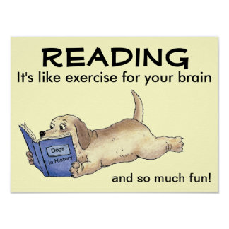 L'affiche de chien de lecture