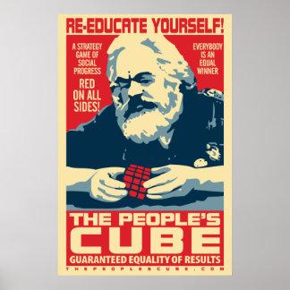 L'affiche de Marx du cube des personnes Poster
