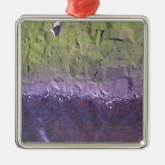 Lagan Silver-Colored Square Ornament