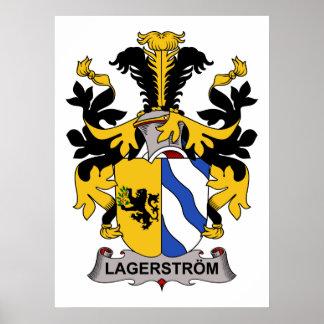 Lagerstrom Family Crest Poster
