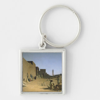 Laghouat in the Algerian Sahara, 1879 Silver-Colored Square Keychain