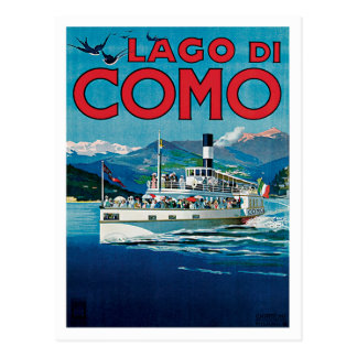 Lago Di Como Italy Vintage Travel Postcard
