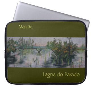 Lagoa do Parado Bordered Customizable Laptop Case