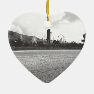 Lagoon Asphalt 1 Ceramic Heart Ornament