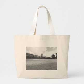 Lagoon Asphalt 1 Large Tote Bag