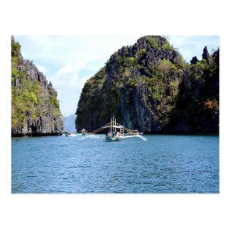 Lagoon at El Nido Palawan Postcard