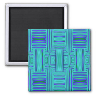 Lagoon Blue Geometric Magnet