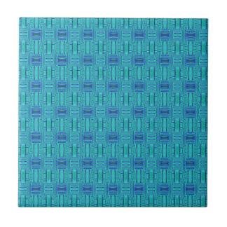 Lagoon Blue Geometric Tile