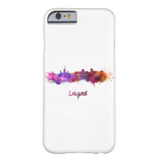 Lagos skyline in watercolor barely there iPhone 6 case