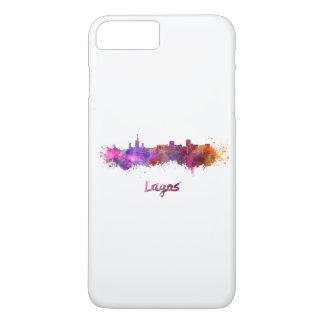 Lagos skyline in watercolor iPhone 7 plus case