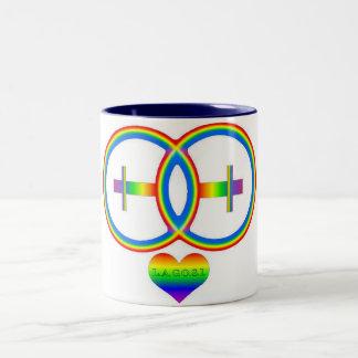 LAGOSI 001Rainbow-2female-mug Two-Tone Coffee Mug