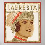 Lagresta Cigar Label Poster