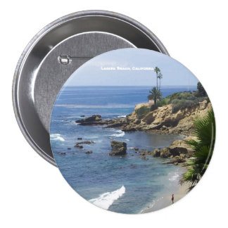 Laguna Beach 3 Inch Round Button