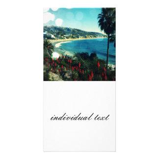 laguna Beach,aqua lights Photo Cards
