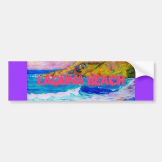 Laguna Beach Art Car Bumper Sticker
