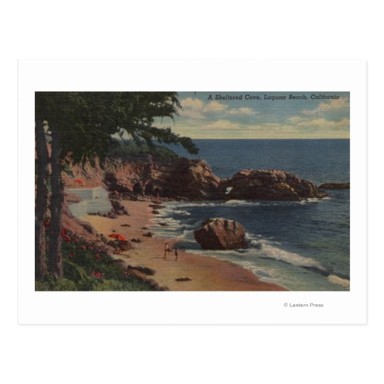 Laguna Beach, CA - Sheltered Cove on Coast Postcard