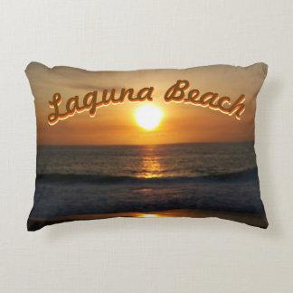 Laguna Beach, CA Sunset Decorative Pillow