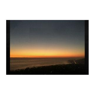 Laguna Beach, CA Sunset Panel Acrylic Print