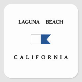 Laguna Beach California Alpha Dive Flag Square Sticker