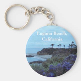 Laguna Beach California Basic Round Button Keychain