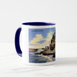 Laguna Beach, California, Vintage View Mug