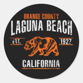 Laguna Beach Classic Round Sticker