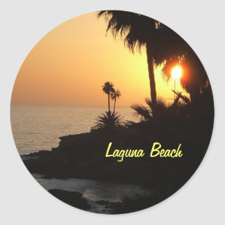 Laguna Beach ocean sunset sticker