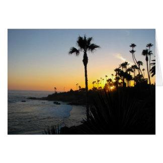 Laguna Beach Sunset Card