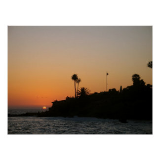 Laguna Beach Sunset Scenic Photo Poster