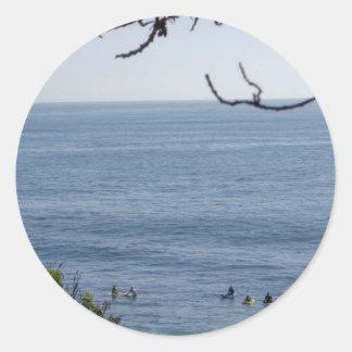 laguna beach surf classic round sticker