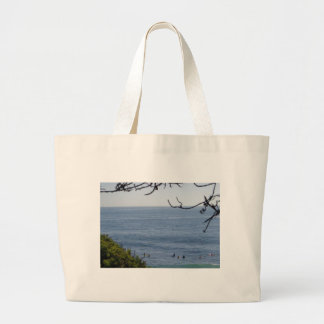 laguna beach surf large tote bag