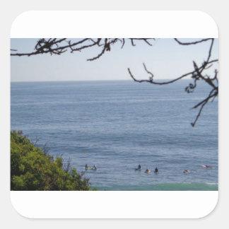 laguna beach surf square sticker